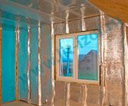 Утепление стены пенофолом в дачном доме