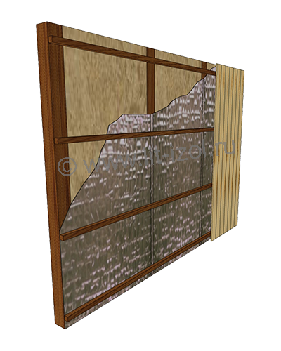 Утепление стен пенофолом